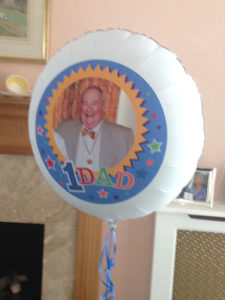 Fathers' day photo balloon
