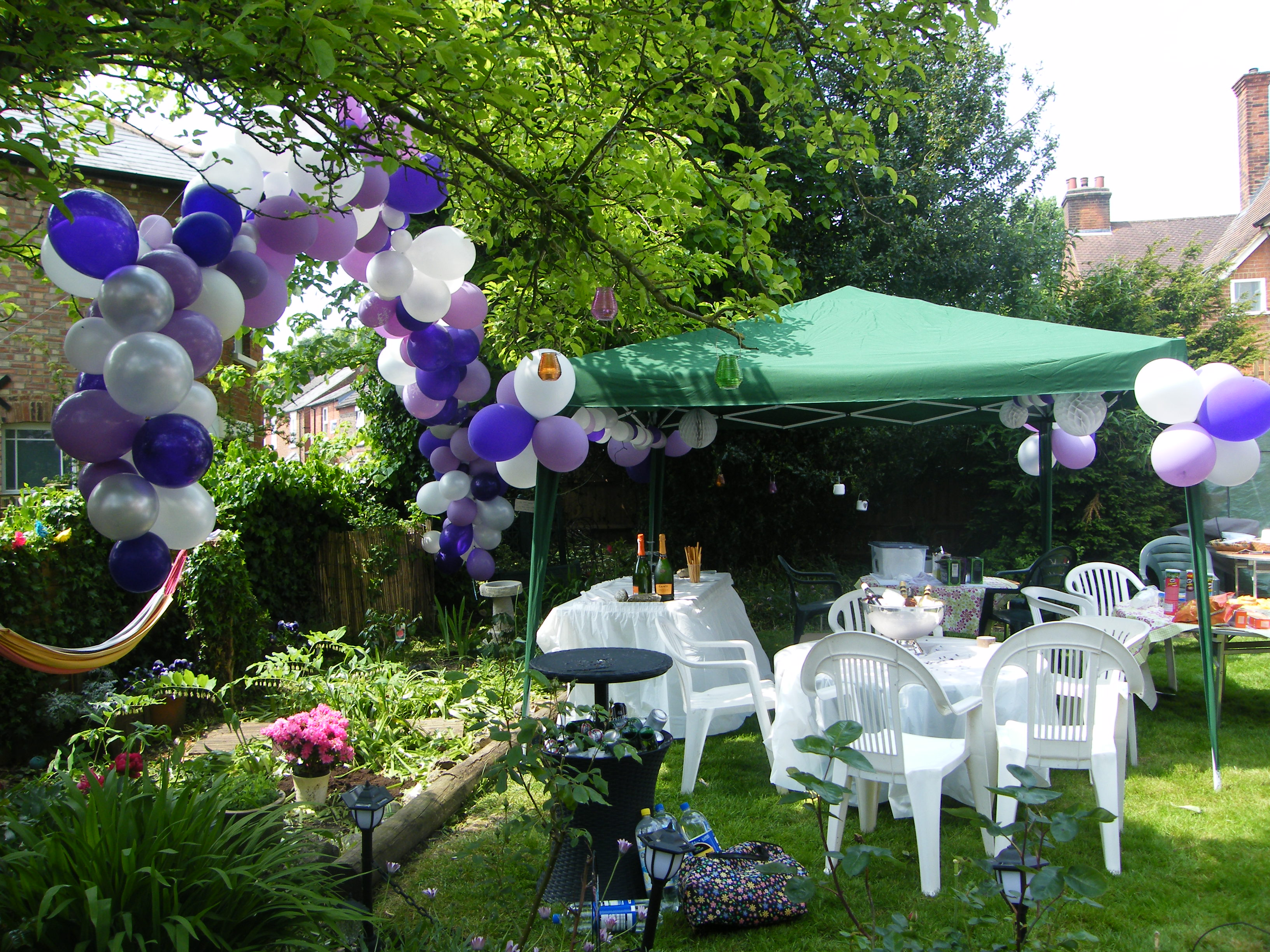 50th Birthday Party In Purple Silver And White Designs By Luce