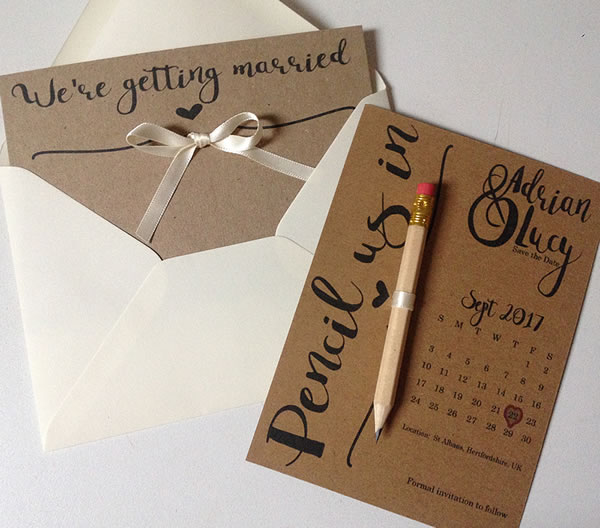 Wedding Stationery - Save the date cards